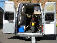 Ford Transit Stealth Camper Rear Doors